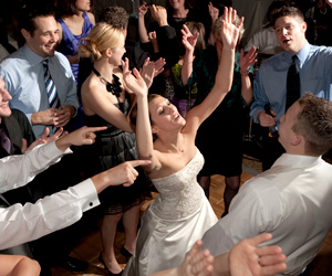 Musicfit Wichita DJ will create your perfect wedding music program. Our  Kansas DJ Service plays your requests and mixes the music just the way you want it.